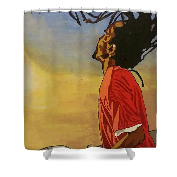 Pan Rising Shower Curtain