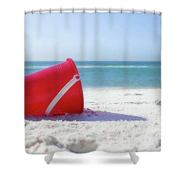 Panama Beach Florida Sandy Beach Shower Curtain