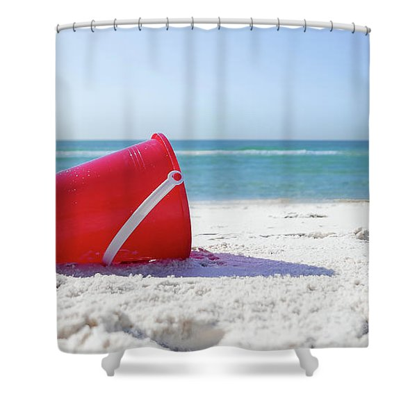 Panama Beach Florida Sandy Beach Shower Curtain