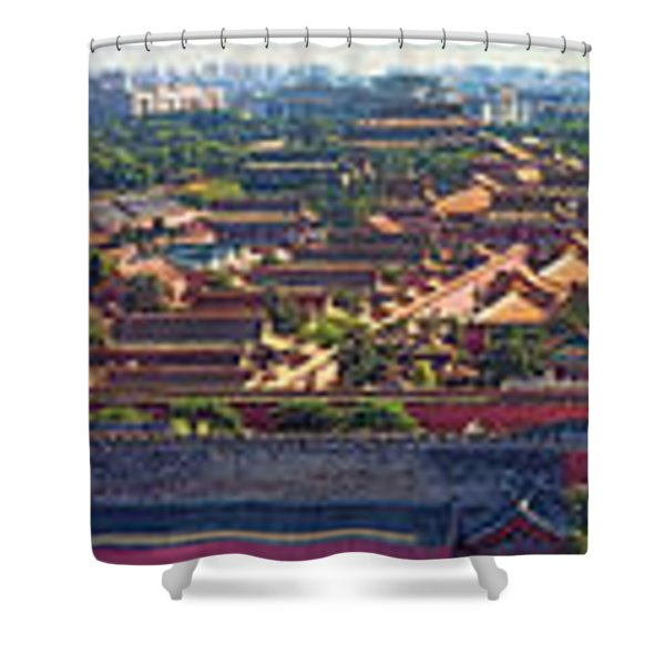 Panorama Of The Forbidden City In Bejing Shower Curtain