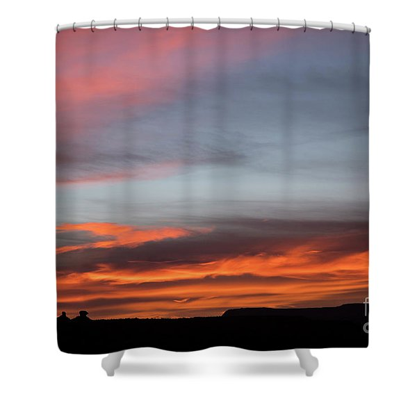 Panorama Point View Capital Reef Shower Curtain