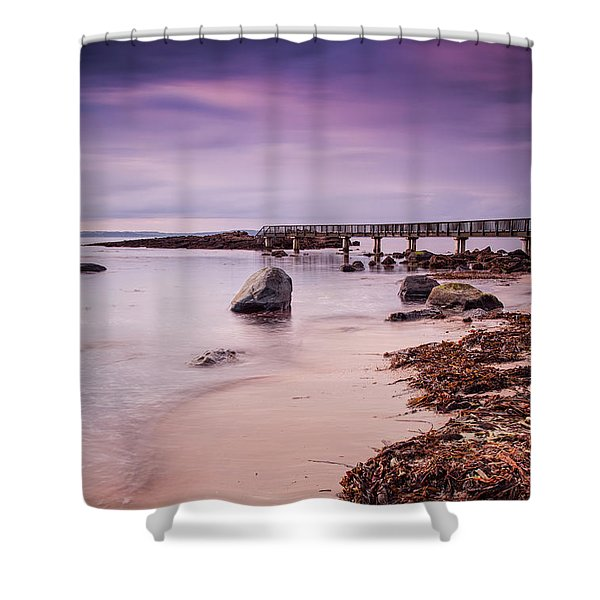 Pans Rocks Beach Shower Curtain