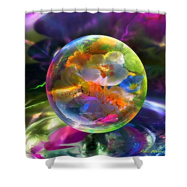 Pansy Drop Shower Curtain