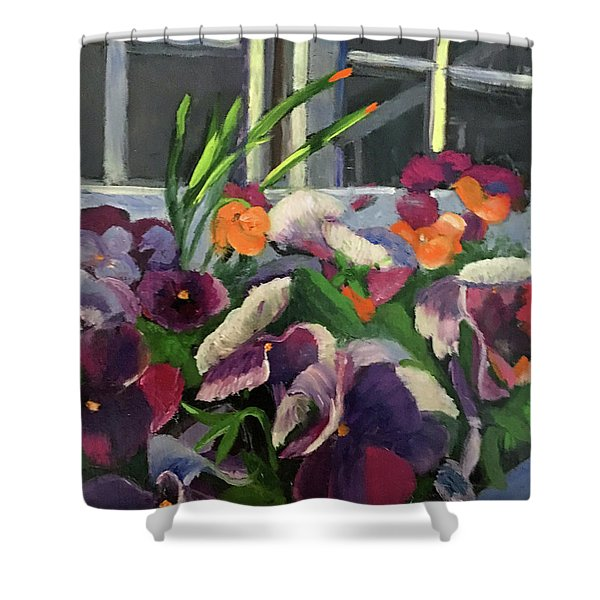 Pansy Frenzy Shower Curtain