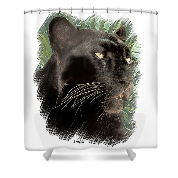 Panther 8 Shower Curtain