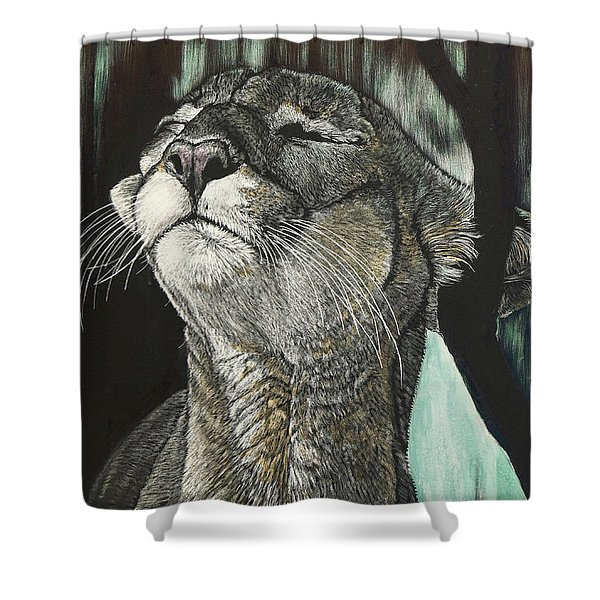 Panther, Cool Shower Curtain