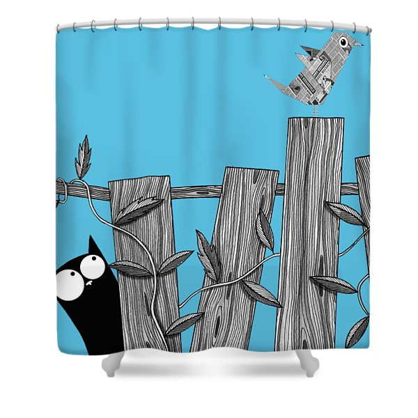 Paper Bird Shower Curtain