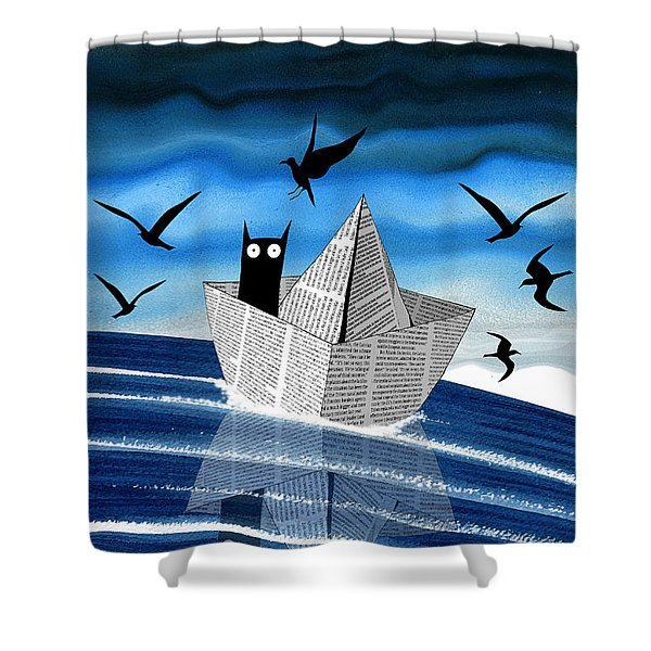 Paper Boat  Shower Curtain