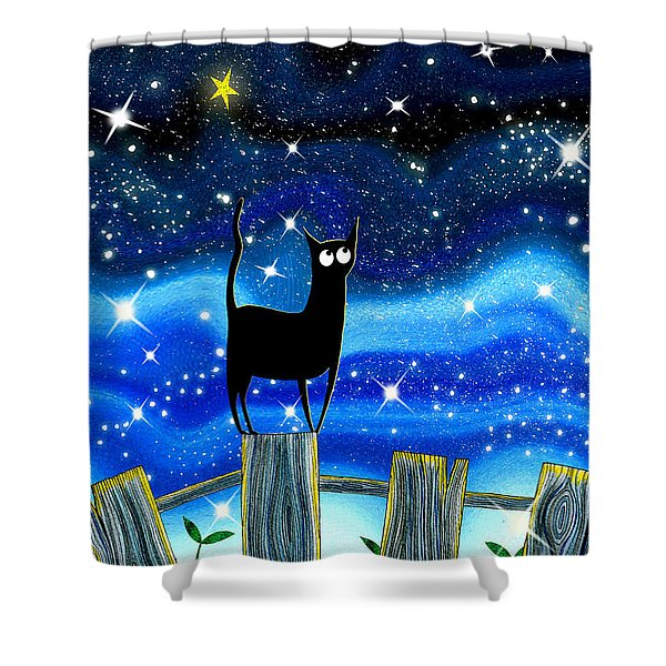 Paper Stars Shower Curtain