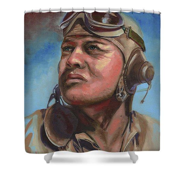 Pappy Boyington Shower Curtain