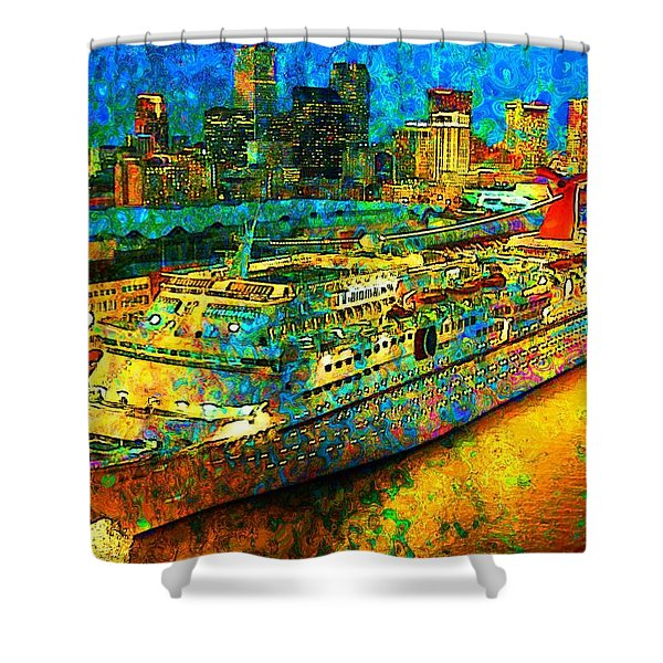 Paradise Boat Shower Curtain