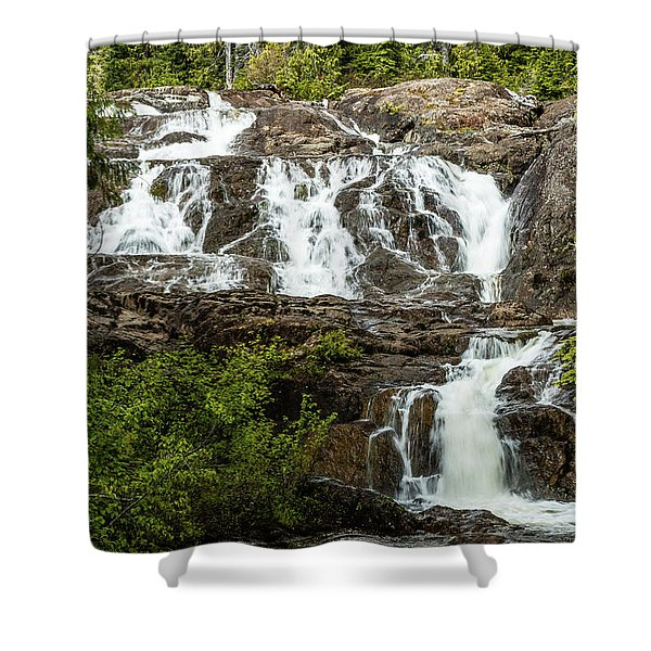 Paradise Falls-1 Shower Curtain