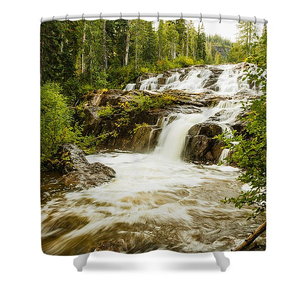 Paradise Falls-2 Shower Curtain
