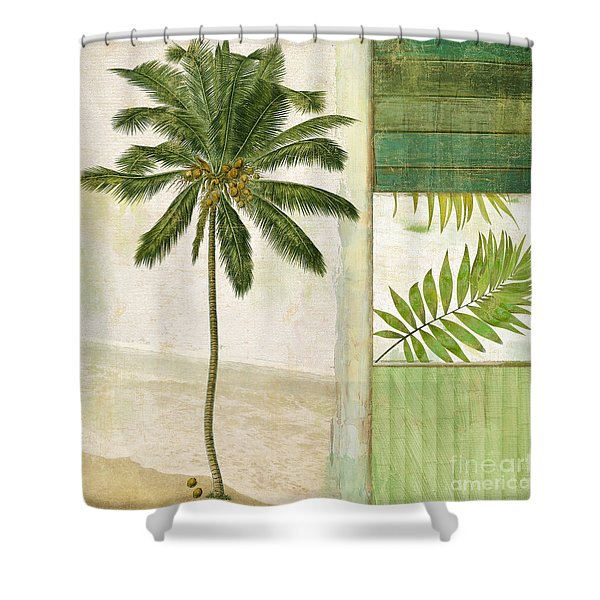 Paradise II Palm Tree Shower Curtain