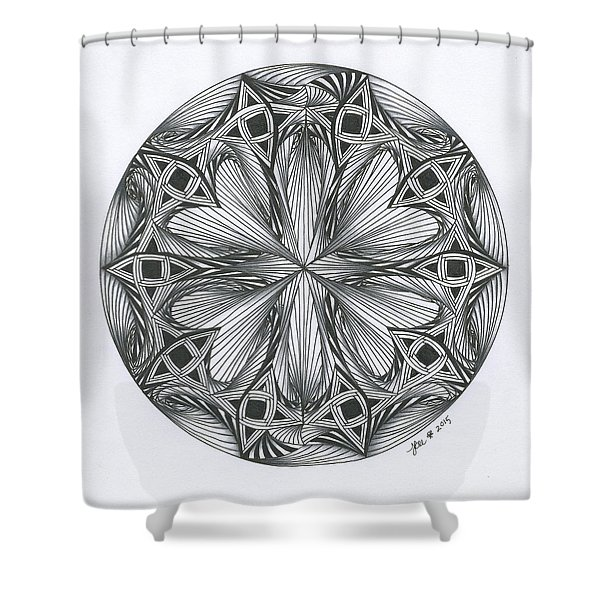 Paradoxical Zendala Shower Curtain