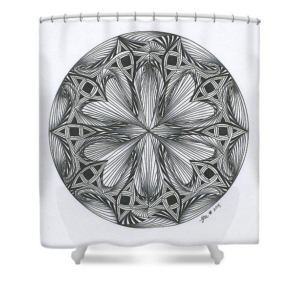Paradoxical Zendala Shower Curtain