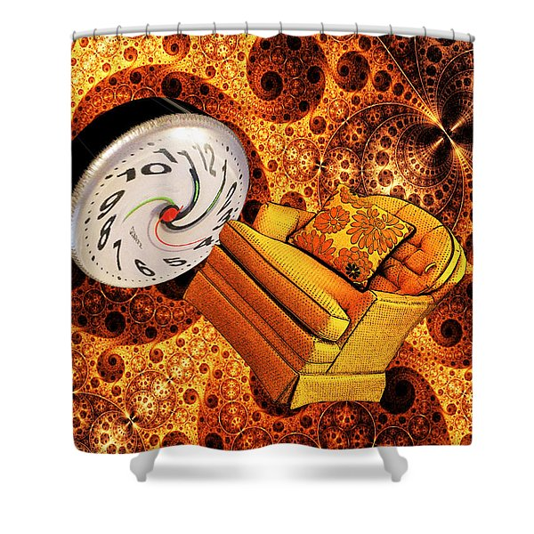 Shower Curtain featuring the digital art Parallel Universe by Tristan Armstrong