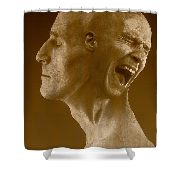Paranoid Schizophrenia Shower Curtain