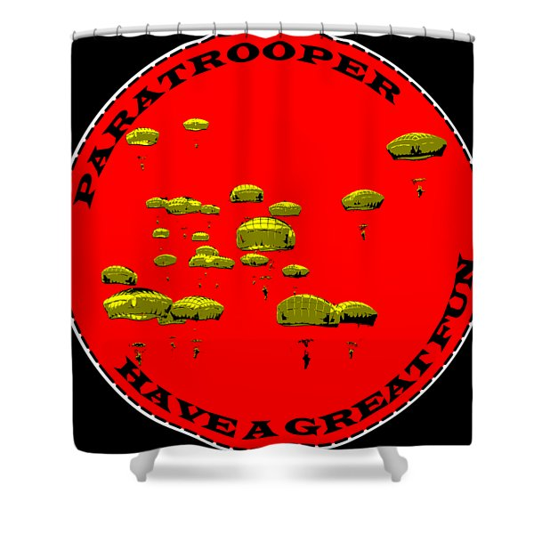 Paratrooper Fun Shower Curtain
