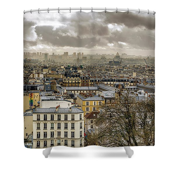 Paris As Seen From The Sacre-coeur Shower Curtain