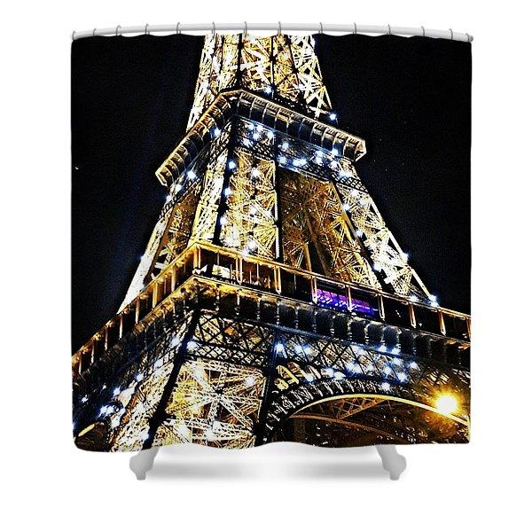 Paris - Eiffel Tower Shower Curtain