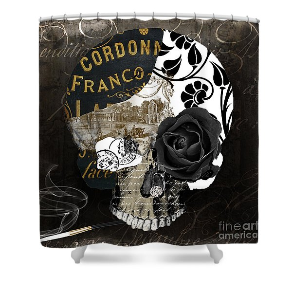 Paris Halloween II Shower Curtain
