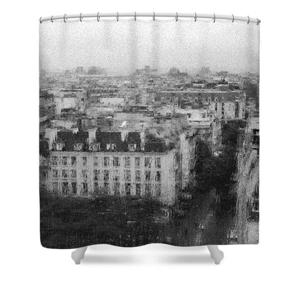 Paris In The Rain  Shower Curtain