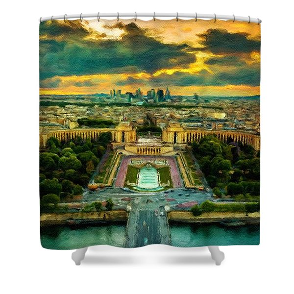 Paris Landscape Shower Curtain