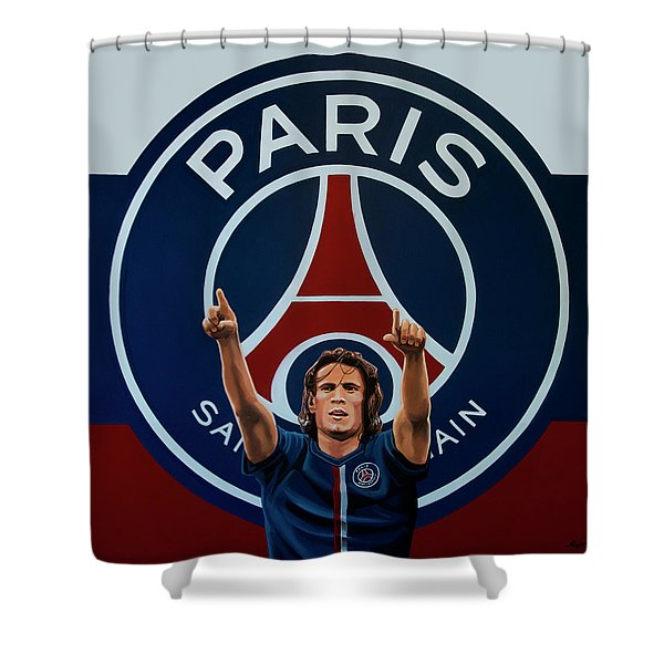 Paris Saint Germain Painting Shower Curtain