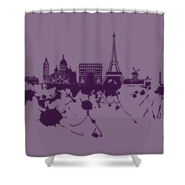 Paris Skyline.1 Shower Curtain