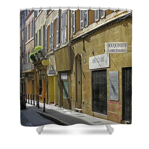 Paris Street Scene Shower Curtain