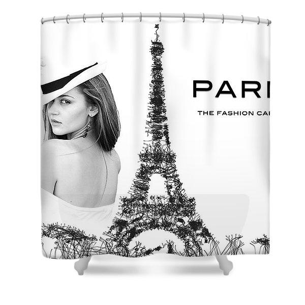 Paris The Fashion Capital Shower Curtain