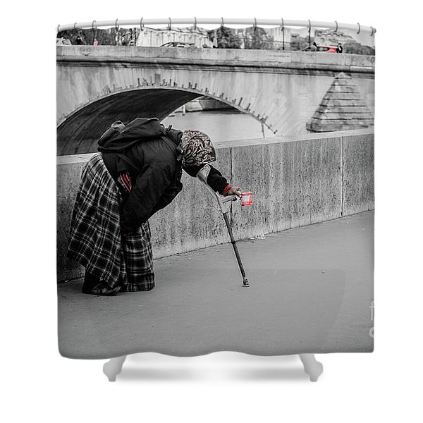 Parisian Beggar Lady Shower Curtain