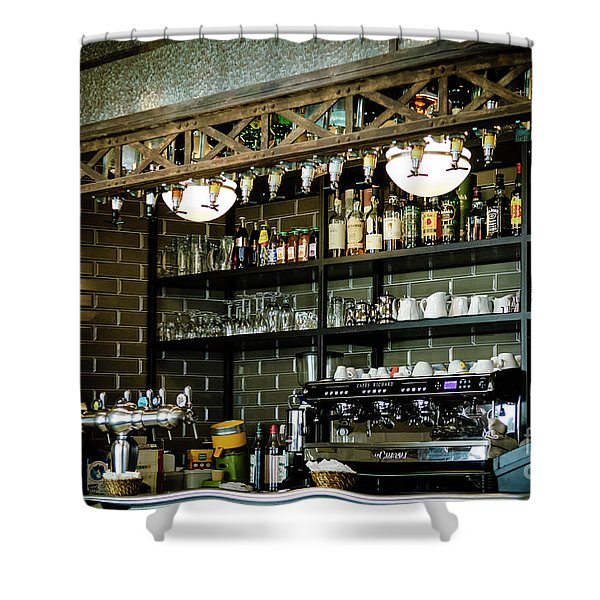 Parisian Espresso Shower Curtain