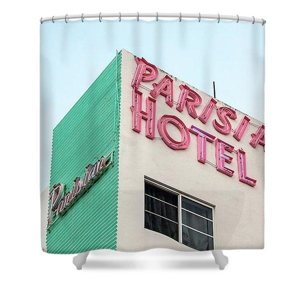 Parisian Hotel South Beach Shower Curtain