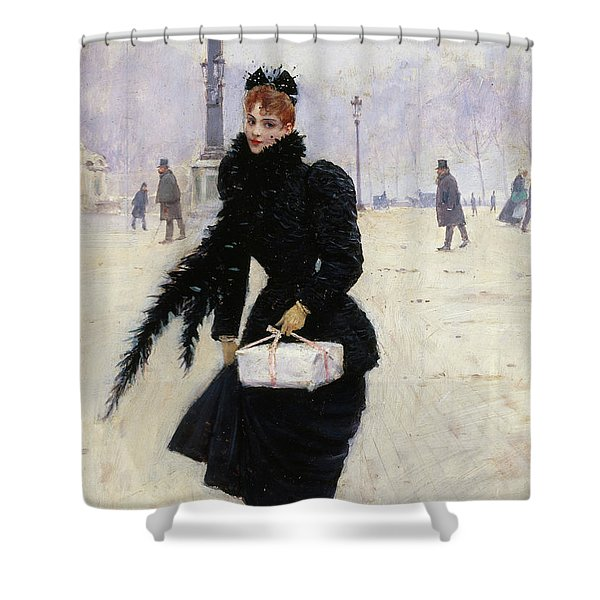 Parisian Place De La Concorde Shower Curtain