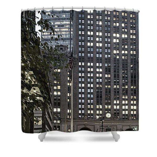 Shower Curtain featuring the photograph Park Avenue Met Life Nyc by Juergen Held
