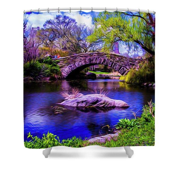 Park Bridge Shower Curtain