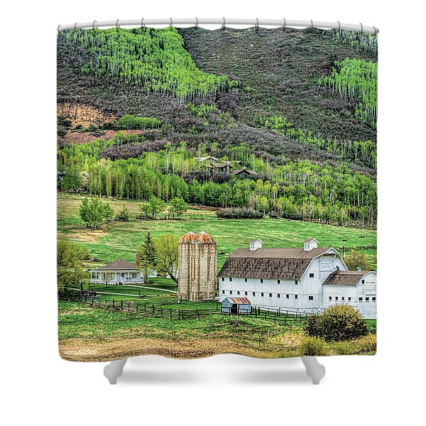 Park City Utah Barn Shower Curtain