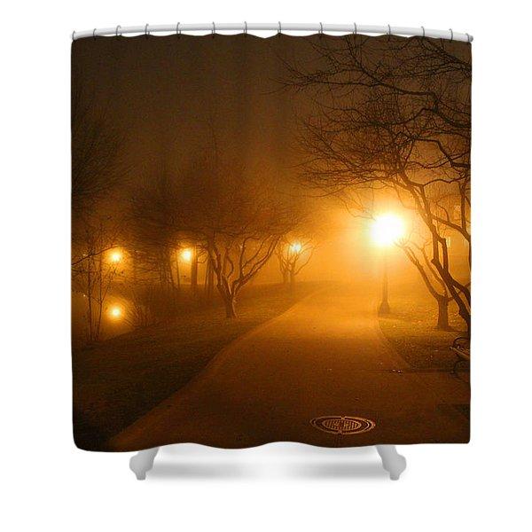 Park Fog Shower Curtain