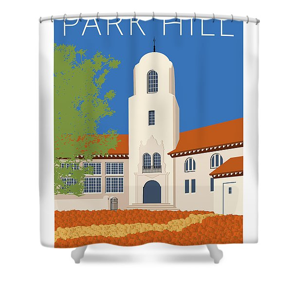 Park Hill Blue Shower Curtain