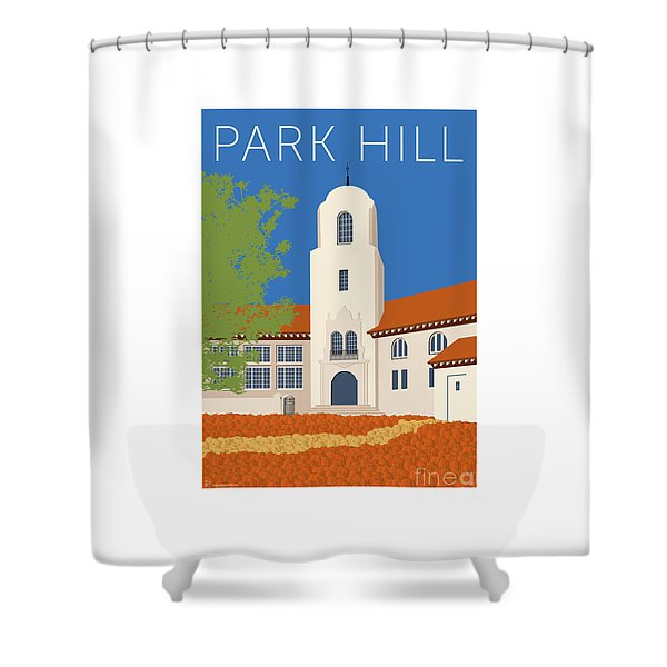 Park Hill Blue Shower Curtain