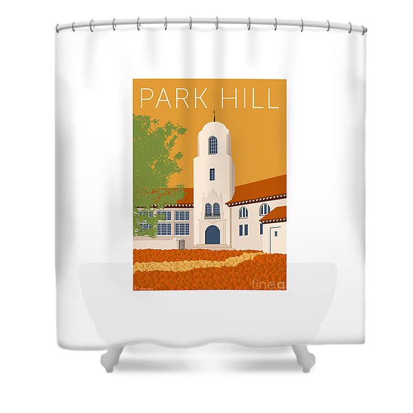 Park Hill Gold Shower Curtain