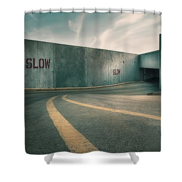 Parking Garage At The End Of The World Shower Curtain