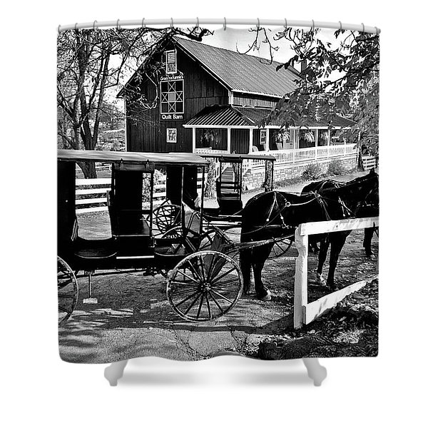Parking In Amish Country Shower Curtain