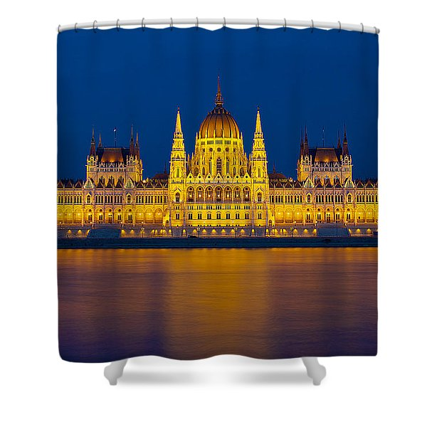 Parliament On The Danube Shower Curtain