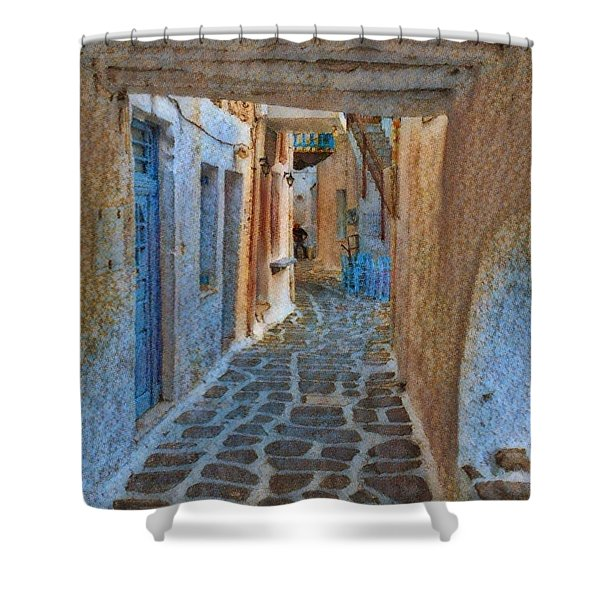 Paros Beauty Island Greece  Shower Curtain