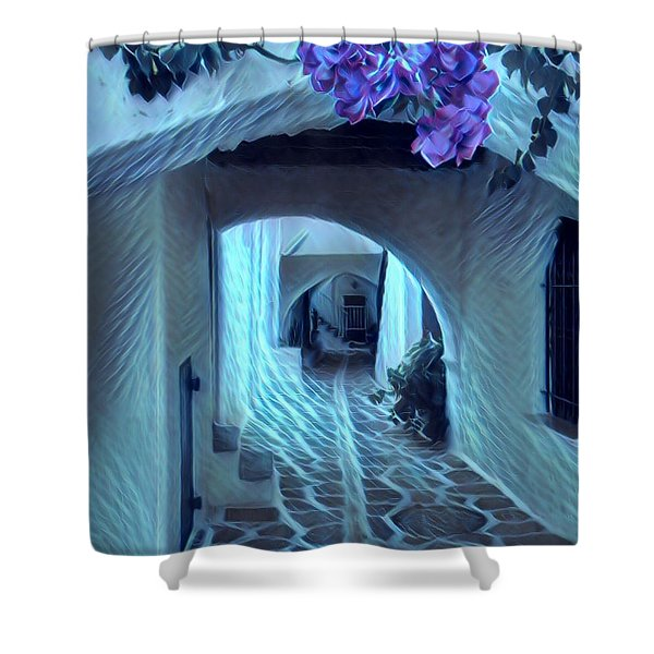 Paros Island Beauty Shower Curtain