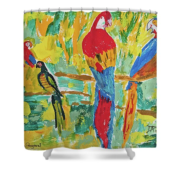 Parrots Shower Curtain