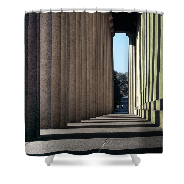 Parthenon Shadow Tunnel Shower Curtain